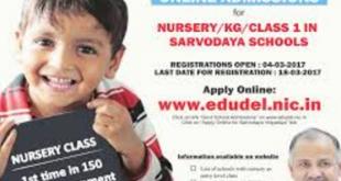 edudel.nic.in Online Nursery
